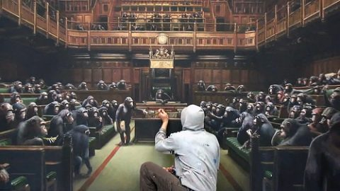 How apropos: Banksy painting of Parliament as monkeys sells for record sum amid Brexit drama 3627277069_cf7d683d0d-480x270