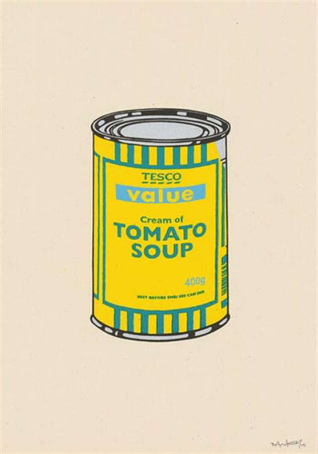 banksy-soup-can-yellow-emerald-sky-blue