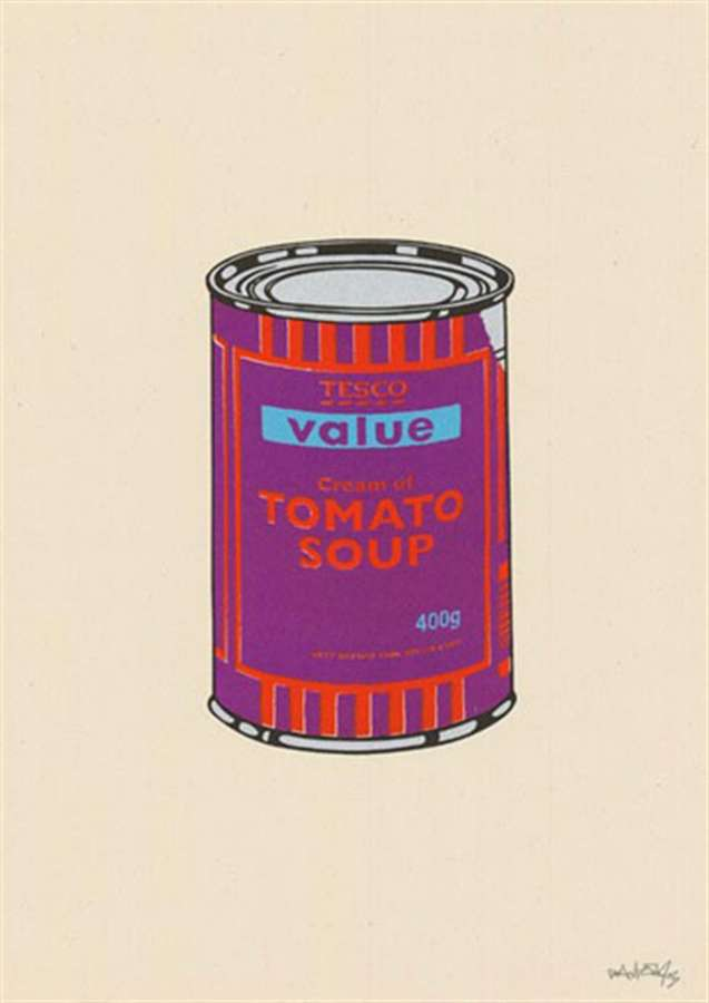 banksy-soupcan-purple-orange-blue
