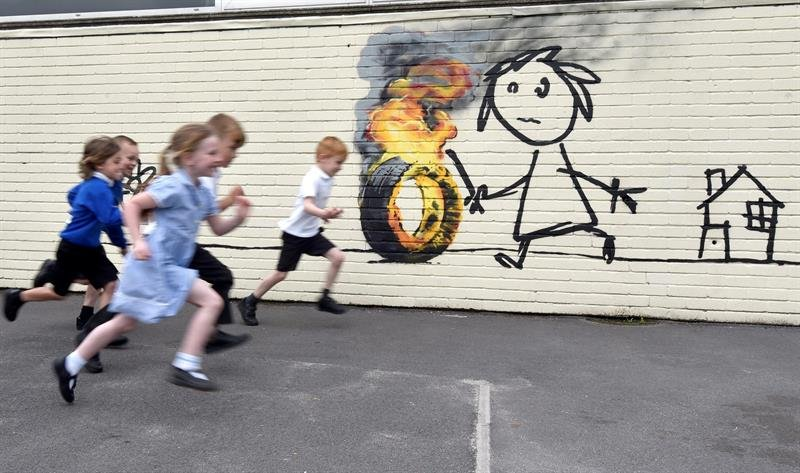 Bristol School Receives Gift from Banksy