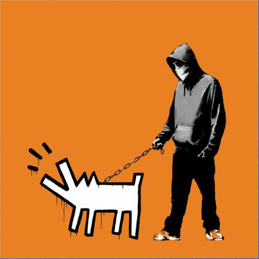 banksy-choose-your-weapon-orange