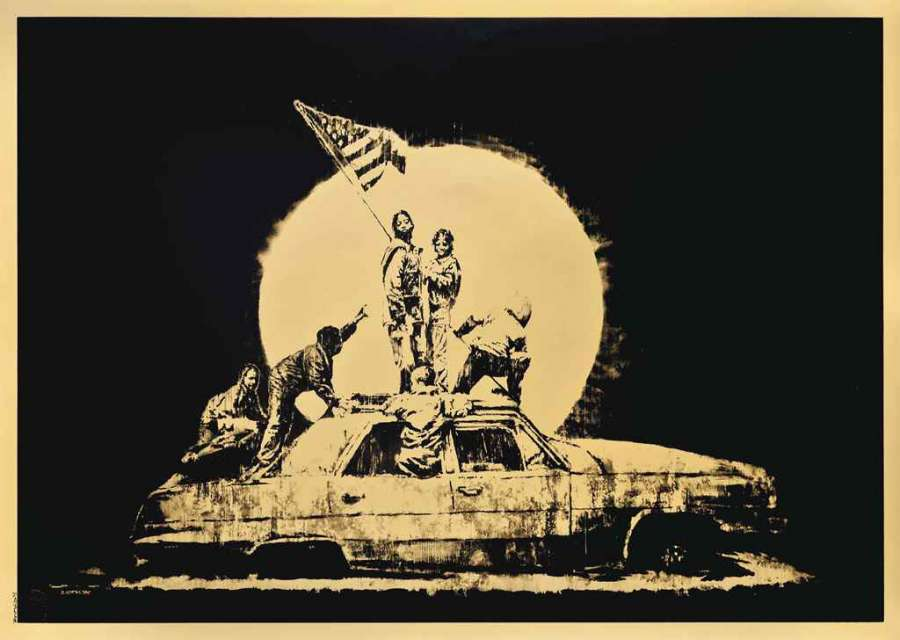 Banksy_Gold_Flag
