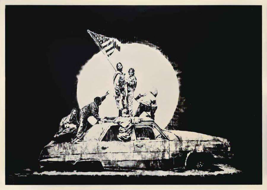 Banksy_Silver_Flag