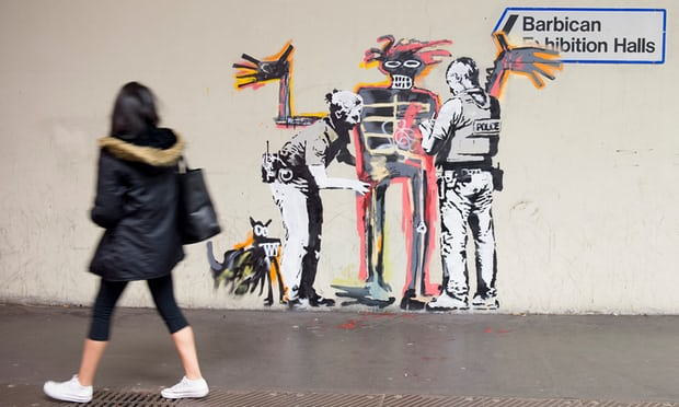 Banksy Pays the Barbican Museum a Back-Handed Compliment with his New Basquiat-Inspired Mural